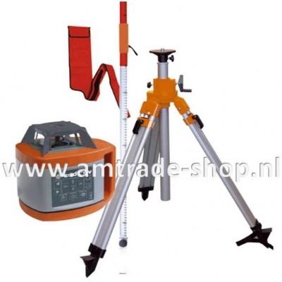 Horizontaal / verticaal (af) bouwlaser 600 HV GROEN LICHT inclusief baak en opdraaibaar statief
