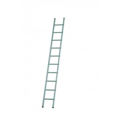 Dirks enkele rechte ladder 18 trede DOE 18 ongecoat