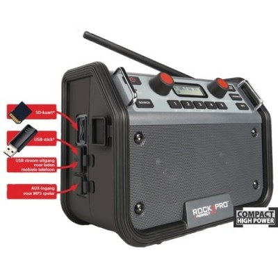 ROCKPRO® Bouwradio + GRATIS batterijen