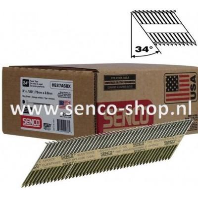 Senco Stripspijker Ø3,1 HE59APBKR 90MM geringd doos a 2.000 stuks