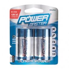 D super alkaline batterij LR20, 2 pk